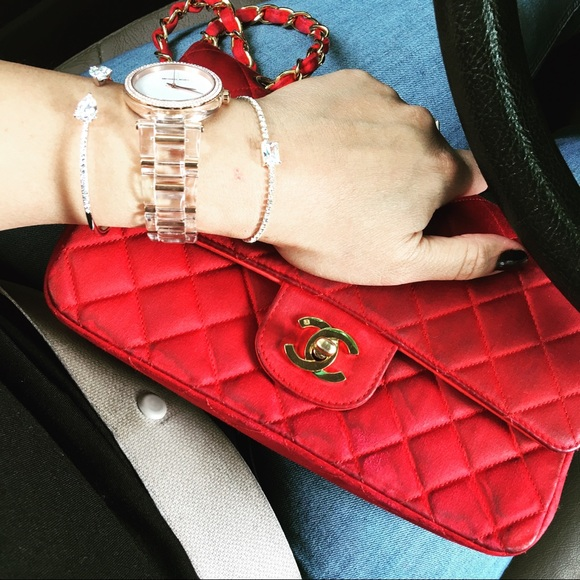 adf549c9c95277 CHANEL Bags | Vintage Red Medium Quilted Double Flap | Poshmark